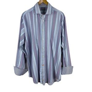 Men's Thomas Dean Shirt Flip Cuff Size XL Button